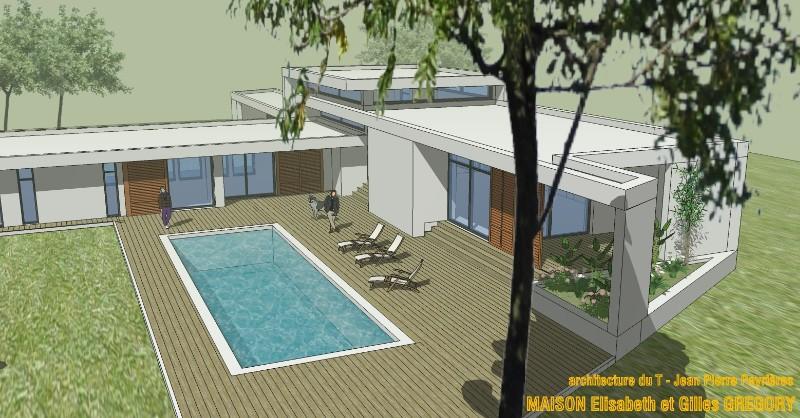Projet de maison contemporaine dans l 39 aude for Projet maison contemporaine