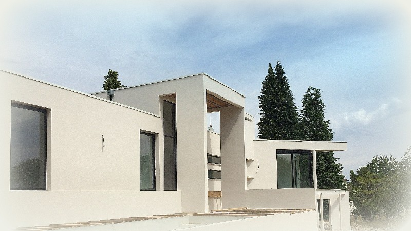 Construction maison contemporaine dans le limousin maison d architecte conte - Construction toit plat ...